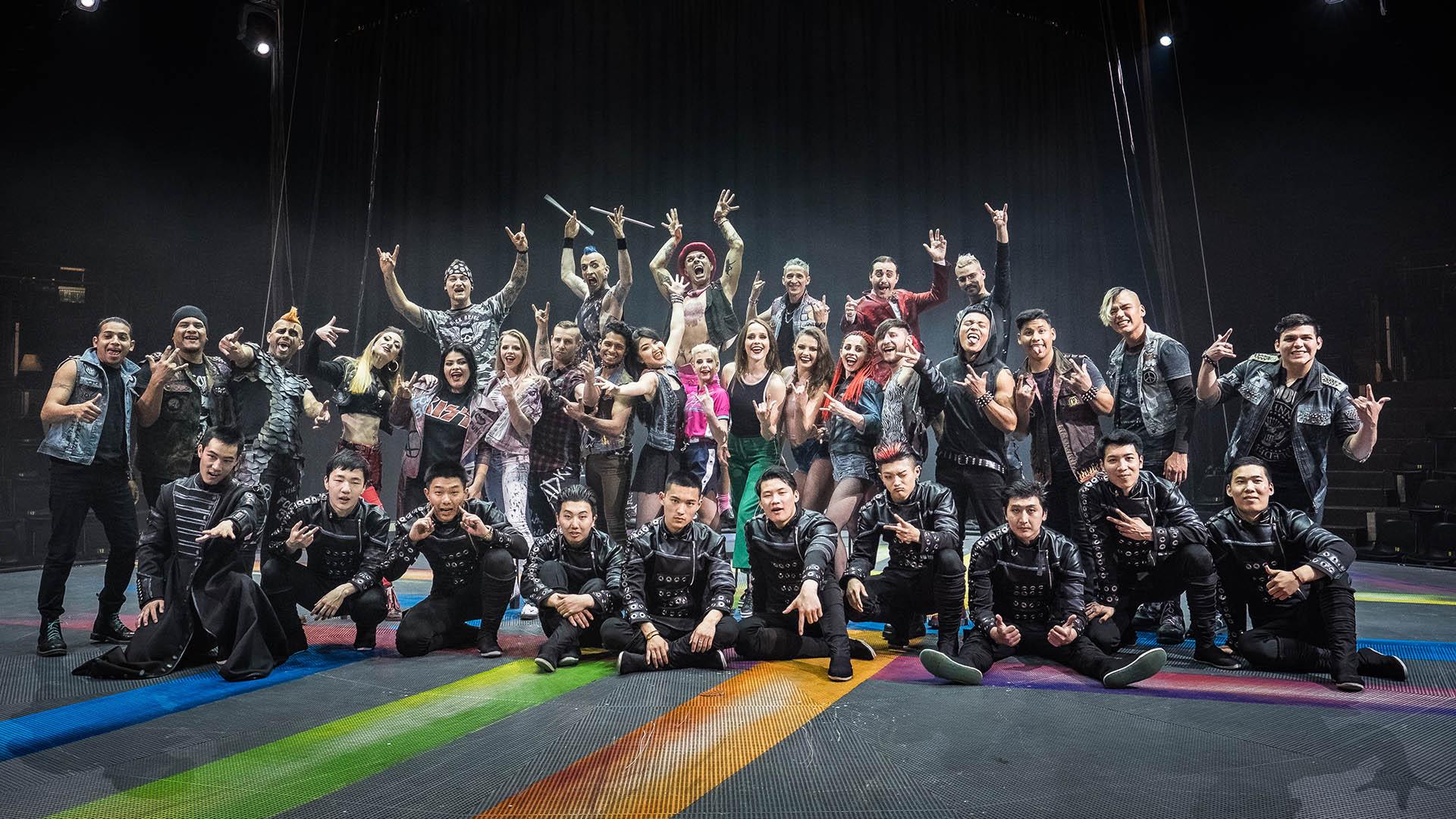Unsere Artisten auf der Bühne